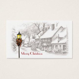 Cartão De Visitas Tag do presente da cidade do Natal