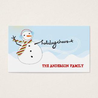 Cartão De Visitas Tag do presente do feriado DIY dos elogios do