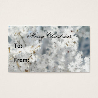 Cartão De Visitas Tag do presente do floco de neve