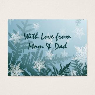 Cartão De Visitas Tag do presente do floco de neve do inverno