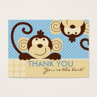 Cartão De Visitas Tag do presente do macaco TY da modificação