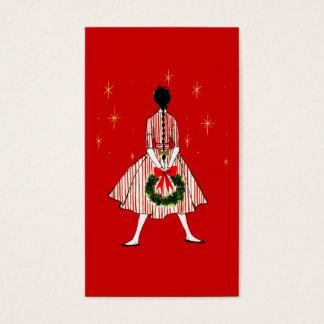 Cartão De Visitas Tag do presente do Natal da menina do 50