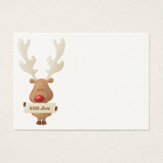 Cartão De Visitas Tag do presente do Natal da rena