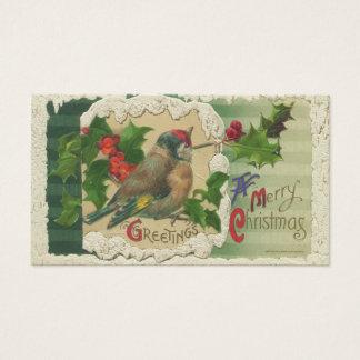 Cartão De Visitas Tag do presente do Natal do Victorian