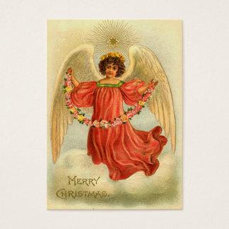 Cartão De Visitas Tag do presente do natal vintage