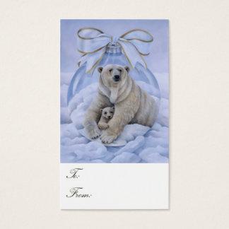 Cartão De Visitas Tag do presente do urso polar