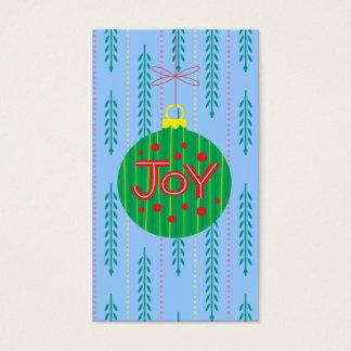 Cartão De Visitas Tag do presente dos enfeites de natal