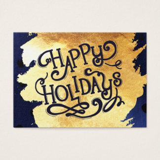 Cartão De Visitas Tag elegantes do presente de feriados do Natal do