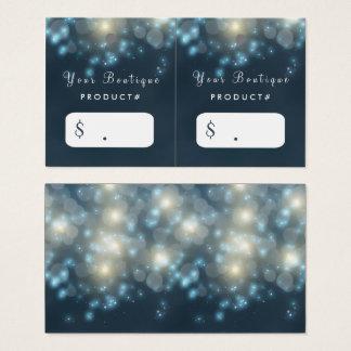 Cartão De Visitas Tag escuros elegantes do cair do boutique da