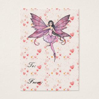 Cartão De Visitas Tag feericamente do presente da dança de Luna