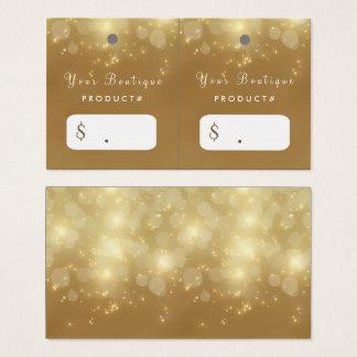 Cartão De Visitas Tag luxuosos do cair do boutique do encanto de