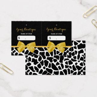 Cartão De Visitas Tag na moda do cair do boutique do arco do amarelo