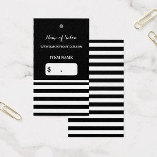 Cartão De Visitas Tag preto na moda do cair do cabeleireiro das