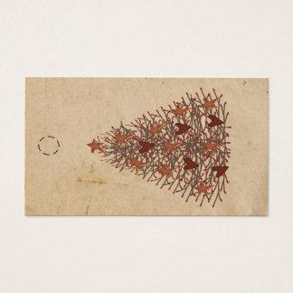 Cartão De Visitas Tag primitivo do cair da árvore