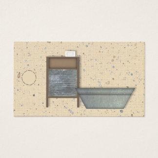 Cartão De Visitas Tag primitivo do cair da lavanderia