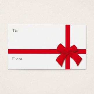 Cartão De Visitas Tag simples do presente