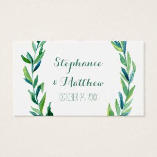 Cartão De Visitas Tag verde-oliva do presente do favor do casamento