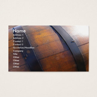 Cartão De Visitas Tambor de vinho