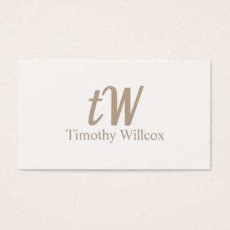 Cartão De Visitas Tarjeta elegante clara y minimalista