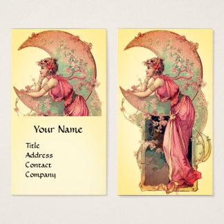 Cartão De Visitas TAROTS/SENHORA LUA COM FLORESCE o amarelo