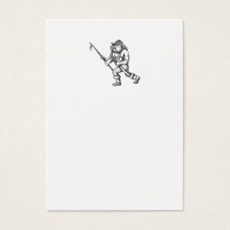 Cartão De Visitas Tatuagem do machado do fogo de Pike Pólo do