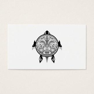 Cartão De Visitas Tatuagem tribal do protetor da tartaruga