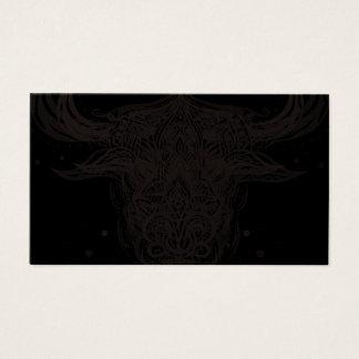 Cartão De Visitas Taurus abstrato original Mystical sagrado de Astro