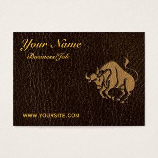 Cartão De Visitas Taurus do Couro-Olhar