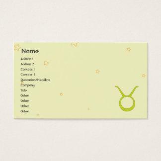 Cartão De Visitas Taurus - negócio