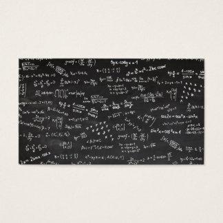 Cartão De Visitas Taxa de matrícula da matemática do quadro-negro