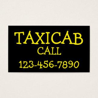 Cartão De Visitas Táxi corajoso simples