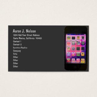 Cartão De Visitas Telefone esperto colorido pessoal