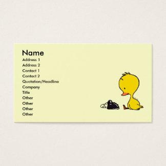 Cartão De Visitas Telefone & pato