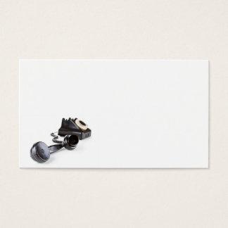 Cartão De Visitas Telefone preto velho com seletor giratório