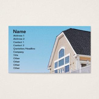 Cartão De Visitas telhado e exterior de uma construção moderna