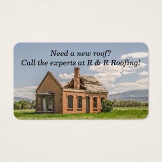 Cartão De Visitas Telhado novo necessário na casa bonita do tijolo