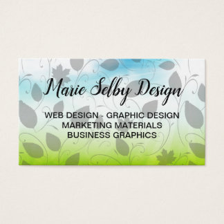 Cartão De Visitas Tema do designer gráfico