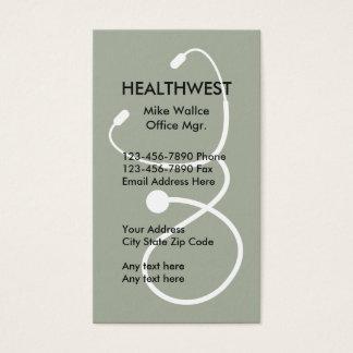 Cartão De Visitas Tema do seguro médico