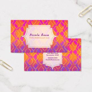 Cartão De Visitas Tema indiano Glam marroquino árabe das cores