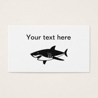 Cartão De Visitas Tema legal do tubarão