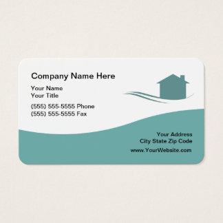 Cartão De Visitas Tema moderno dos bens imobiliários