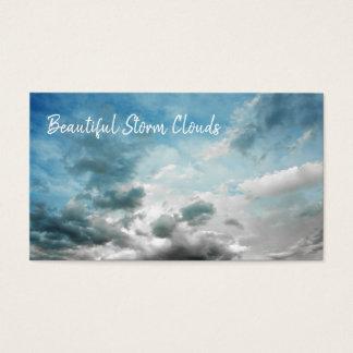 Cartão De Visitas Tempo celestial bonito nebuloso das nuvens de