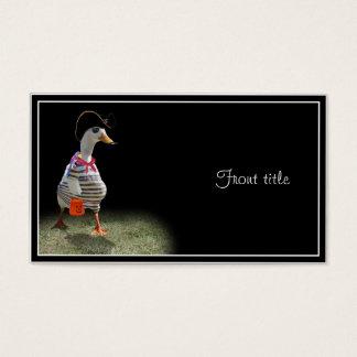Cartão De Visitas Tempo da doçura ou travessura para o pato do