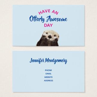 Cartão De Visitas Tenha uma foto bonito da lontra do dia