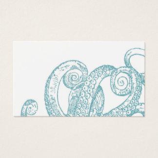Cartão De Visitas Tentáculos do polvo da cerceta