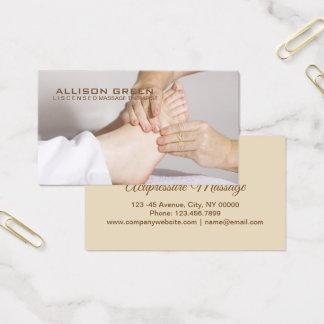 Cartão De Visitas Terapeuta da massagem do pé do Acupressure do