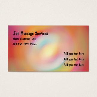 Cartão De Visitas Terapeuta licenciado zen da massagem