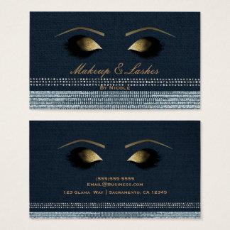 Cartão De Visitas Termas da beleza das pestanas da composição do