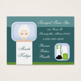 Cartão De Visitas Termas de relaxamento