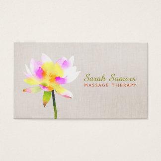 Cartão De Visitas Termas holísticos de Lotus NaturalHealth da